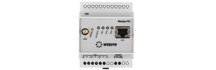Concentrateur WebdynTIC pour compteurs électriques avec interface TIC
