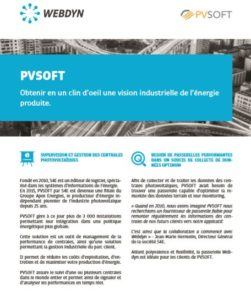 Télécharger la brochure de la success story de PVSOFT